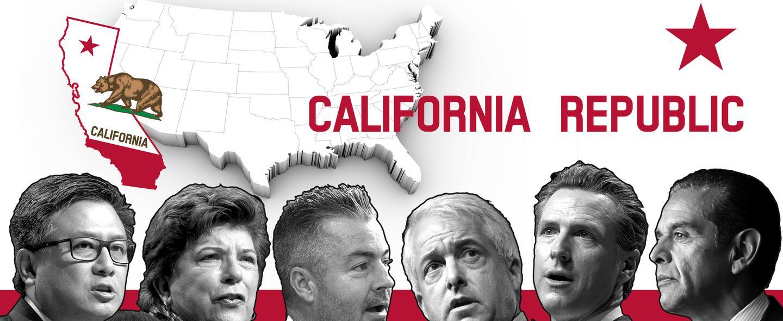 Entre los candidatos a la gobernación de California hay tres demócratas...