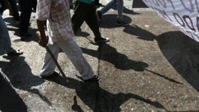 Caminata Iguala. Imagen de archivo.
