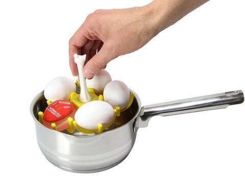 El gadget ideal para cocer los huevos a la temperatura perfecta es este...