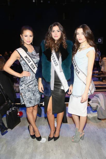 Este trío de reinas se juntó en la presentación de Vivienne Hu, Miss USA...