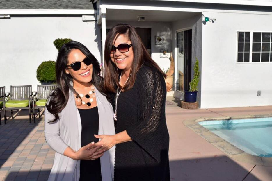 Amigos y familiares de Ericka Pino le organizaron un baby shower en Los...