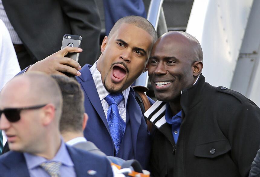 Los Denver Broncos campeones de la Conferencia Americana, llegaron la tr...