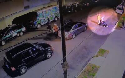 Imagen capturada del video que registró la golpiza que sospechoso...
