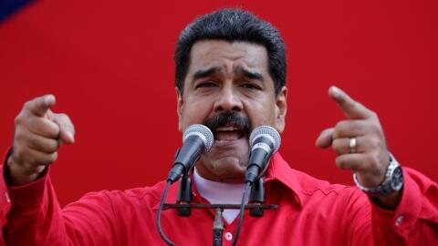 El presidente Nicolás Maduro, en un acto en el Palacio de Miraflo...