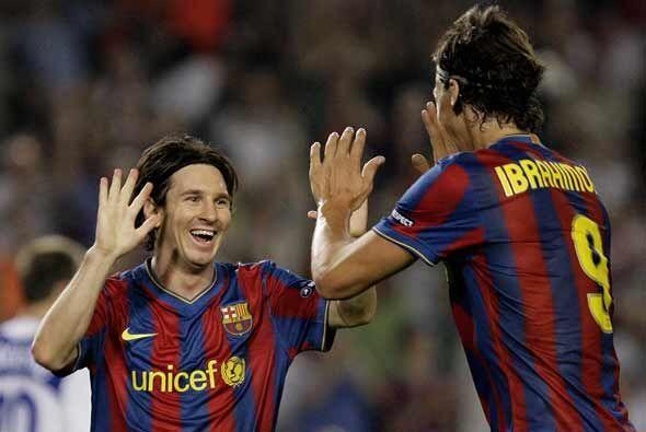 Además de 'Lio', sus compañeros al ataque Zlatan Ibrahimovic y Thierry H...