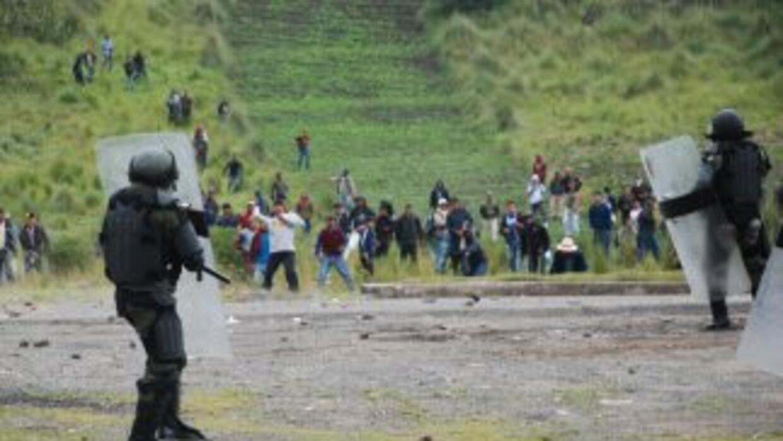 Disturbios en Guatemala.
