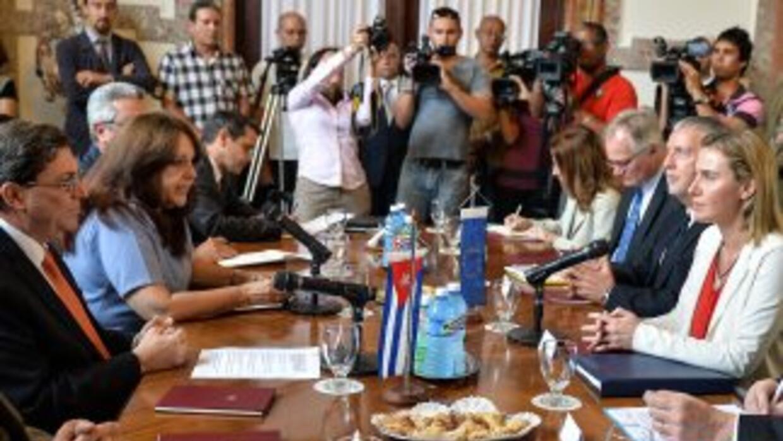 Desde el lunes, Federica Mogherinimantuvo una intensa agenda enCuba, q...