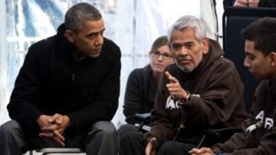 29 de noviembre de 2013. El presidente Barack Obama visita a Eliseo Medi...