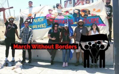 Activistas marchan de Los Ángeles a Tijuana, México, para...