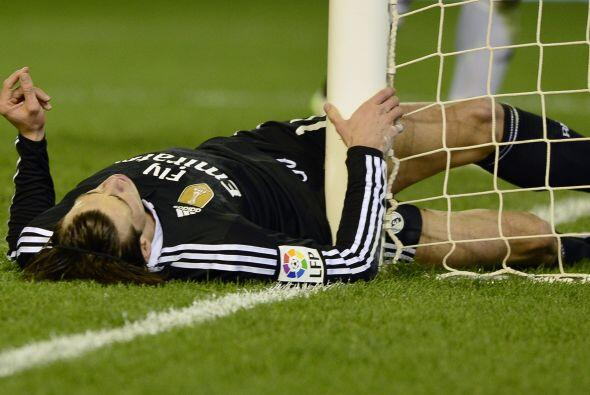 Gareth Bale tuvo un partido discreto en el ataque de los merengues tambi...