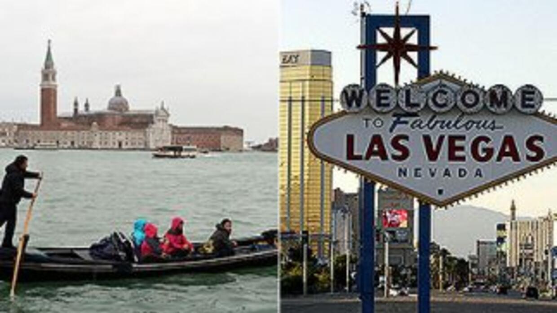 Dos ciudades imposibles, según Jorge Ramos, Venecia y Las Vegas.