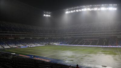 En fotos: se cancela el juego entre Monterrey y Zacatepec de Copa MX por la intensa lluvia