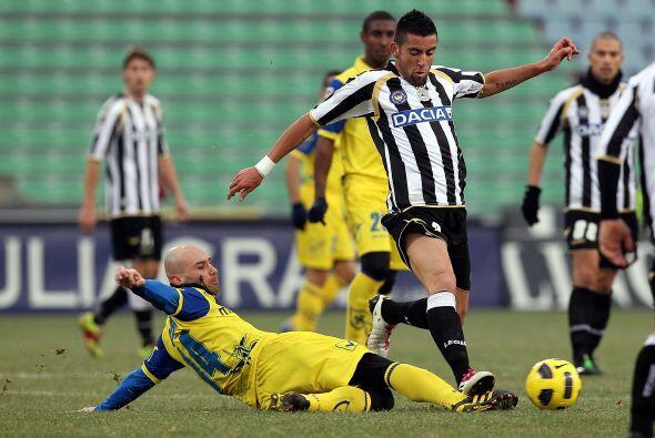 Chievo Verona no fue rival en su visita al campo del Udinese.