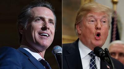 El vicegobernador de California, Gavin Newsom, exigió la renuncia de Don...