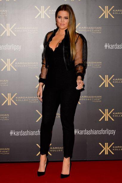 Enfundada en un 'jumpsuit' negro con algunas transparencias, la 'celebri...