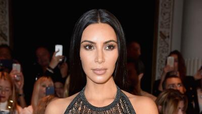 El atrevido look de Kim Kardashian en el desfile de Balmain