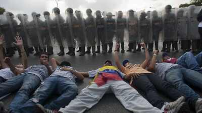 Las protestas 'acostadas' alrededor de EEUU y del mundo
