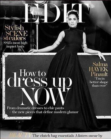 Recientemente, Salma Hayek conquistó en la nueva portada de la revista '...
