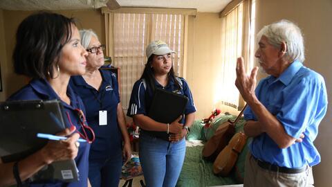 En las visitas realizadas en comunidades de Bayamón y Toa Baja, m...