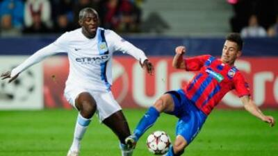 El marfileño Yaya Touré marcó uno de los tantos con los que los 'Citizen...