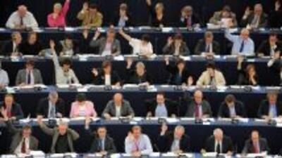Parlamento Europeo en pleno debate.