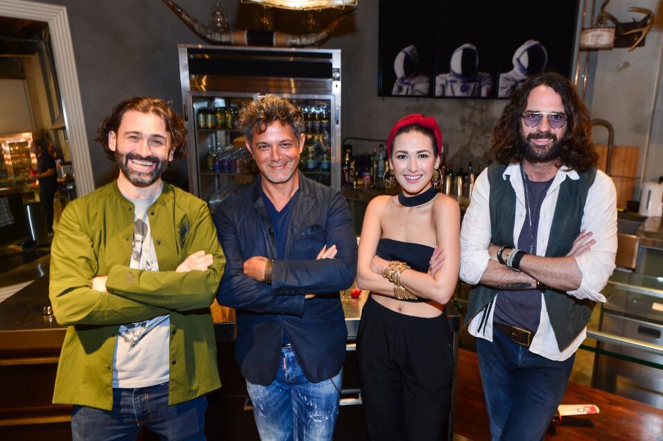 Javier Limón, Alejandro Sanz, Nella y Ernesto Estrada.