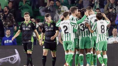 En fotos: Sin Guardado, Betis clasificó con goleada a Octavos de Final de la Copa del Rey