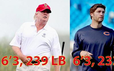Según el informe médico, Trump mide lo mismo que el jugado...