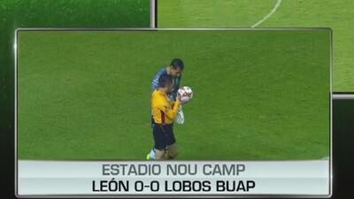 Se reanuda el encuentro entre León y Lobos tras el gran aguacero