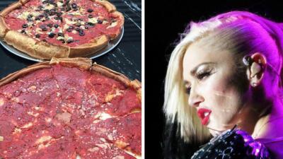 Gwen Stefani y pizza Chicago