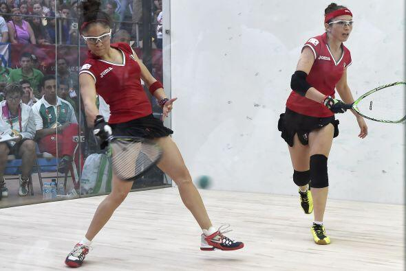 En la semifinal femenil de racquetbol por equipos, las mexicanas Paola L...