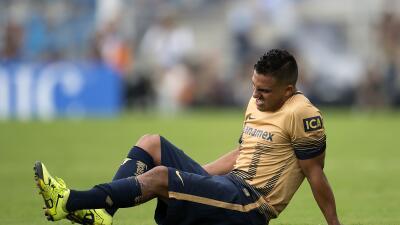 El jugador de Pumas estará fuera de dos a tres semanas