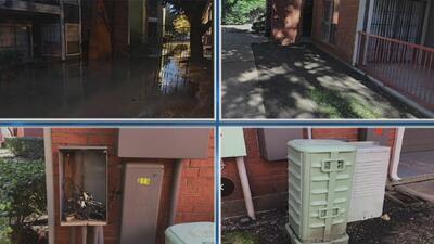 Habitantes de un complejo de apartamentos denuncian problemas con la recolección de basura y acumulación de agua