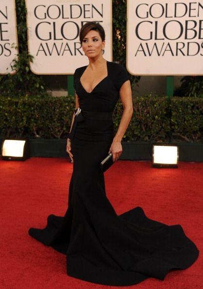 Eva Longoria brilló en esos mismos Golden Globes con un hermoso diseño d...