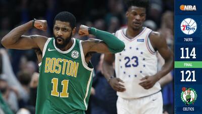 Kyrie Irving logra 40 puntos en la victoria de los Celtics sobre 76ers