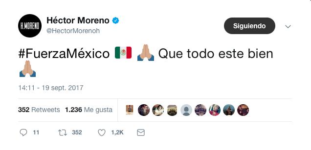 Tras terremoto en México el fútbol envía mensajes de aliento para el pue...