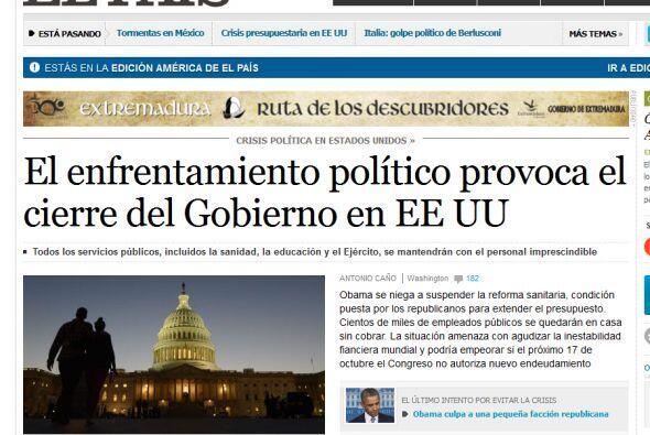 """El diario español """"El País"""" destaca, además de las áreas que se verán af..."""