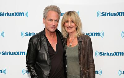NEW YORK, NY - JUNE 09: Lindsey Buckingham and Christine McVie visit the...