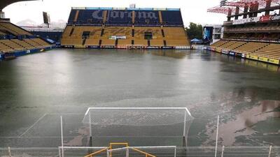 ¿La Gran Pecera? Se inundó el estadio de los Dorados de Maradona