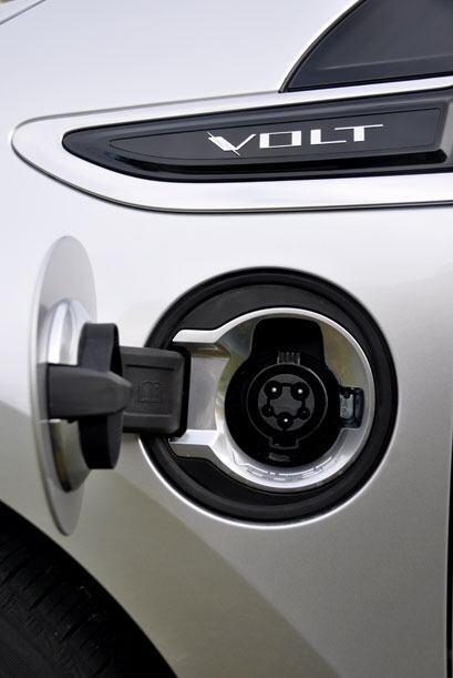 El Volt tiene una entrada especial para el cable de recarga de la batería.
