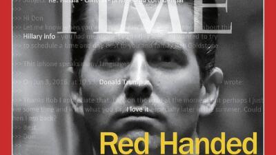 La portada que Time dedica a Donald Trump Jr.