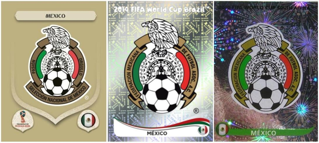 Escudos: Rusia 2018 / Brasil 2014 / Sudáfrica 2010
