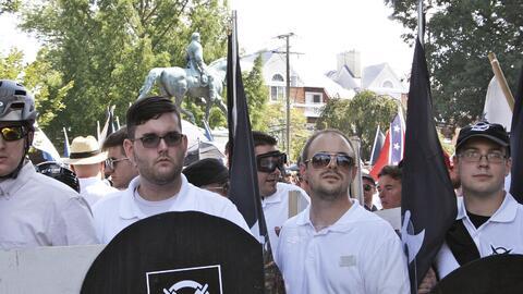 James Alex Fields Jr. en la marcha de los supremacistas blancos de este...
