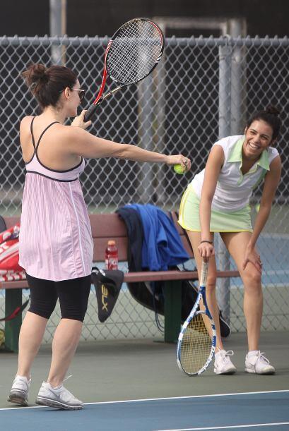 Los actores mexicanos se encontraron en una cancha de tenis para disfrut...
