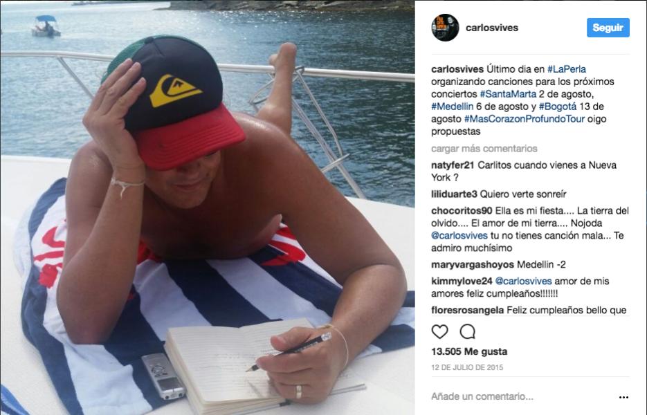 Antes de su gira Más corazón profundo tour, se relajó en la playa La per...
