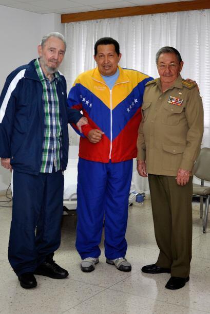 La única imagen de Chávez desde entonces se produjo cuando...