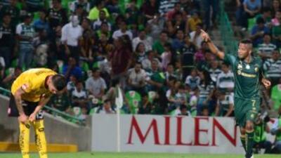 Andrés Rentería hizo el único gol del partido.