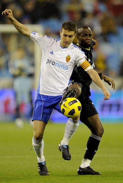 Los 'maños' recibieron al Valencia y Gabi marcó dos tantos, de penalti,...