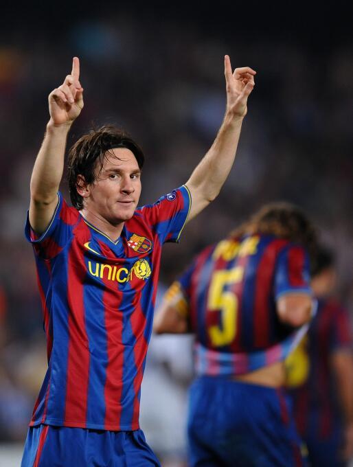 Temporada 2009/2010 - Lionel Messi (F.C. Barcelona) con 8 goles.
