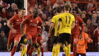 El Liverpool vino de atrás para eliminar al Dortmund